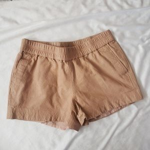 J.Crew Tan Perforated Leather Shorts size 4